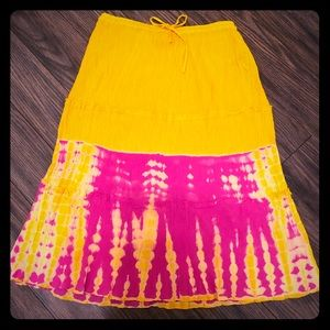 NWOT- Beautiful semi-sheer TieDye Hippie Skirt